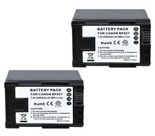 TWO 2X BP-827 Batteries for Canon HF10, HF100, HF11, HF20, HF200, HF21, HFG10,