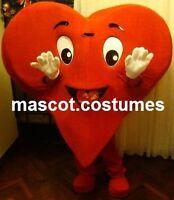 Love Heart Mascot Costume Character Adult Professional