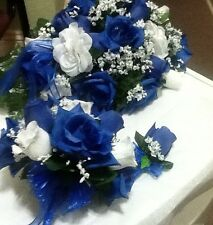 17 Pc wedding Package Royal blue White and Silver