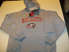 COLUMBUS BLUE JACKETS REEBOK PULLOVER HOODED SWEATSHIRT YOUTH L (14-16) GRAY NWT