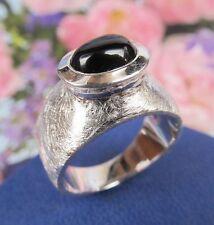 Ring 925er Sterling Silber  mit  Onix