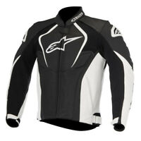 Alpinestars Jaws Leather Motorcycle Motorbike Jacket Black White RRP £439.99