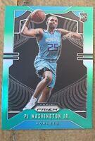 2019-20 Panini Prizm Green P.J. PJ Washington Jr. Charlotte Hornets RC #258