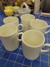 """3"""" Tall White Coffee Cup Set of 5"""
