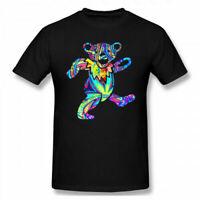 Men's Grateful Dead Dancing Bear 100%Cotton Short Sleeve T shirt Tee