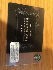 UK Starbucks Card Black Starbucks Coffee Company 2016 Ref 6129 Seattle 1971