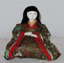 "Antique Japanese Seated 4.5"" Musician Chorus Hina Doll Glue BH3#AD4161415.8"