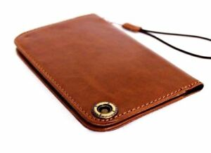 Genuine Natural Leather Case for iPhone 7  iPhone 6S 6 Book Wallet Cover Cards