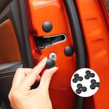 12pcs Car Interior Door Lock Screw Protector Cover Caps Trim ABS Black Universal