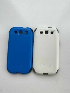 Otterbox Lot of 2 Case For Samsung Galaxy Phones Blue White Pre-Owned Fast Ship