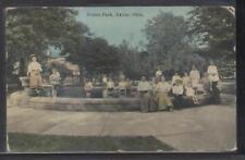 Postcard AKRON Ohio/OH  Children Bathing in Union Park Fountain 1907