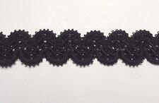 Designer Braid Gimp Trim Color: Black - MADE IN USA - Put-up: 10 Continuous Yard