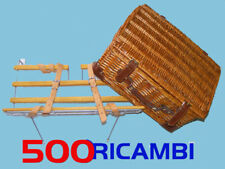 FIAT 500 D/F/L/R KIT PORTAPACCHI + VALIGIA CESTINO PICNIC IN VIMINI + ACCESSORI