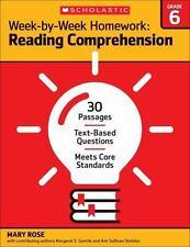 Week by Week Reading Comprehension Homework - 6th Grade - Brand New!!!