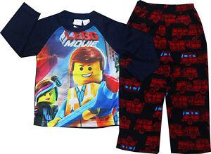 NEW SZ 2-8 KIDS BOYS GIRLS PJ WINTER FLEECE LEGO PYJAMAS SLEEPWEAR COTTON PJS