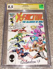 Marvel Comics X-Factor 5 CGC SS 8.5 Joe Rubinstein Signed Cover 1st Apocalypse