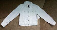 Gap Kids Denim Girls Jacket White Stain-Resistant Size L Regular NWT