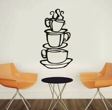 3 Tier coffe cup wall decal sticker kitchen cafe home decor