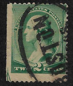 US # 213 (1887) 2c - Used - Good: EFO: Guide Line Arrow  -  1/200