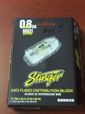 STINGER HPM SHD820 MIDI FUSED POWER DISTRIBUTION BLOCK 0/4 GA IN (2)4/8 GA OUT