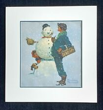 """Norman Rockwell signed """"Snowman"""""""