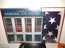 The American Flag Book Hc by Whitney Smith & 3'x5' U.S. Flag Gift Set minor wear