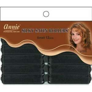 """Annie Silky Satin Foam Rollers - Soft Fabric - Small Size 5/8"""" 12-Pack - #1244"""