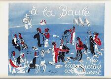 Original vintage print LA BAULE HIGH SOCIETY FUN 1928 Dufy