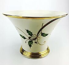 Lenox Holiday Nouveau Centerpiece Console Bowl Porcelain Gold Trim 10""