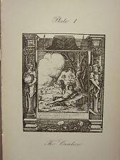 1887 HOLBEIN DANCE WITH DEATH PRINT ~ THE CREATION  ADAM & EVE EDEN