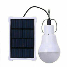 20W Portable Solar Panel Powered Led Light Bulb Camping Tent In/Outdoor Lamp Us