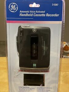 Vintage NEW GE Automatic Voice Activated Handheld Cassette Recorder 3-5367 1999