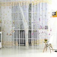 Schmetterlingsblument Tüll Voile-Fenster-Vorhang /Neu