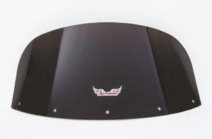 "VN1700 Kawasaki Voyager & Vaquero 1700 - Medium 10"" Dark Smoke Tinted Windshield"