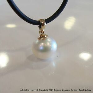 NEW JEWELLERY BROOME STAIRCASE DESIGNS Broome Pearl Pendant 18cty