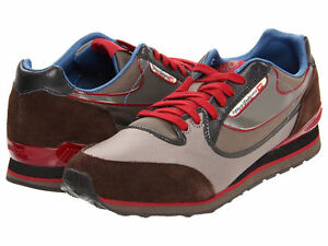 DIESEL Y00327 PS635 H4404 ARAMIS Mn's (M) Brown/Burgundy Nylon Lifestyle Shoes