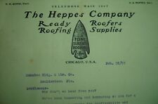 Old 1903 THE HEPPES COMPANY Letterhead Chicago IL Flint NO TAR Roofing Co Binnie