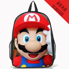 """Super mario brothers big face 15"""" shoulder bag unisex Backpack back to school ne"""