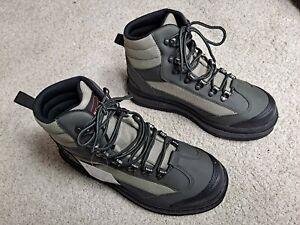 Frogg Toggs Hellbender Wading Shoe Felt Green Silver Blk Men's9 Size 9 Brand New