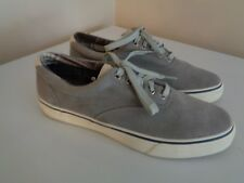 SPERRY TOP SIDER MEN'S GRAY LEATHER BOAT SHOE SZ 12M~SUPER CLEAN