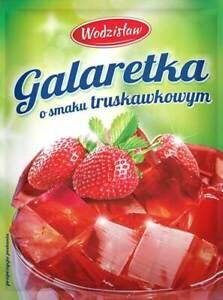 Götterspeise  Beutel zu 75g Erdbeer-Geschmack Wackelpudding Pulver Wodzislaw