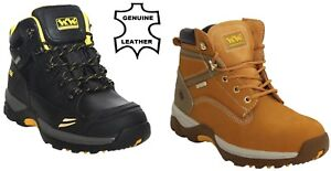 NEW MENS WOOD WORLD SAFETY STEEL TOE CAP WATERPROOF HONEY WORK BOOTS SHOES SIZE