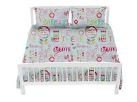 Hello There Children's Double Bed Duvet Cover Set & 2 Pillowcases Bedding Kids
