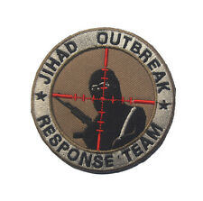 JIHAD OUTBREAK RESPONSE TEAM INFIDEL U.S. ARMY MORALE BADGE Embroidery PATCH