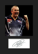 PHIL TAYLOR #1 Signed Photo A5 Mounted Print - FREE DELIVERY