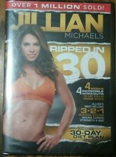 Jillian Michaels Ripped In 30 Dvd Fitness Training Workout Exercise Video New