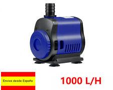 UEETEK Pequeño Sumergible Acuario Peces Tanque De Agua Ajustable Bomba 1000L/h