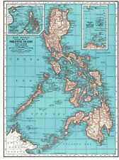 1942 Antique PHILIPPINES Map Vintage Map of the Philippine Islands Map 7592