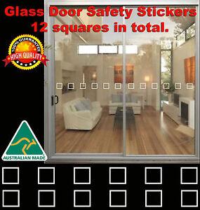 DOOR HAZARD PROTECTION DECALS STICKERS SAFETY GLASS SLIDING DOOR STICKER DECAL