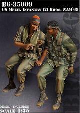 BRAVO-6 35009 U.S. Mech. Infantry (2) BROS Nam '68 1/35 RESIN FIG.